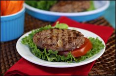 Buffalo-Style Blue Cheese Burgers  PointsPlus® value 4 for 1 patty (makes 4)
