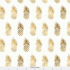 1 yard (or 1 fat quarter) of Gold Pineapple rows by designer crystal_walen. Printed on Organic Cotton Knit, Linen Cotton Canvas, Organic Cotton Sateen, Kona Cotton, Basic Cotton Ultra, Cotton Poplin, Minky, Fleece, or Satin fabric.  Available in yards and quarter yards (fat quarter). PLEASE NOTE: This is not actual metallic glitter. It was created with color shading to give the effect of shimmering.   This fabric is digitally printed on demand as orders are placed. Unlike conventional…