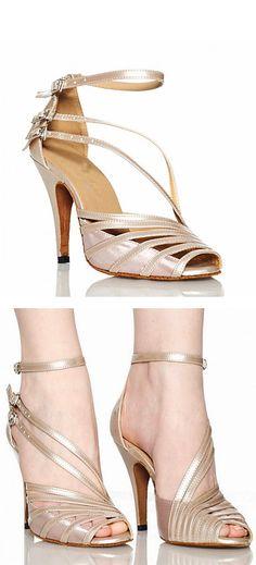 Satin strap heels