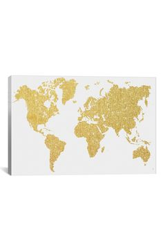 Found it at Wayfair - Gold Map Graphic Art on Wrapped Canvas Map Canvas, Abstract Canvas, Abstract Print, Canvas Art Prints, Painting Prints, Map Painting, Gold Canvas, Canvas Paintings, Canvas Size