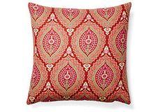 One Kings Lane - Boho Brights - Jane 20x20 Cotton Pillow, Multi