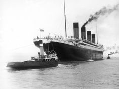 The Titanic Leaving Belfast Ireland for Southampton England for Its Maiden Voyage New York Usa Photographic Print by Harland
