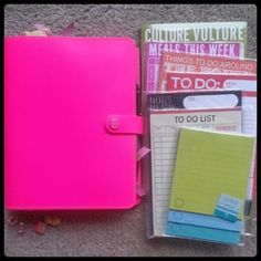 A Crafty Island Girl: Filofax: Inside My A5 Original **using notepad pages as inserts