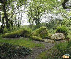 Os jardins perdidos de Heligan, localizados no Reino Unido, são legítimas obras de arte. A Mud Maid, escultura criada com plantas, é uma das mais curiosas atrações que você pode encontrar por lá. Uma experiência e tanto, não acha?