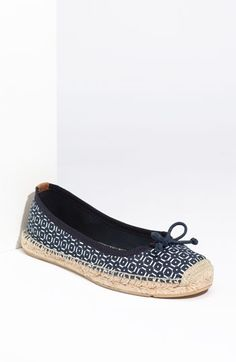 Printed Flat Espadrille by Tory Burch: On sale $67.90 #Shoes #Tory_Burch