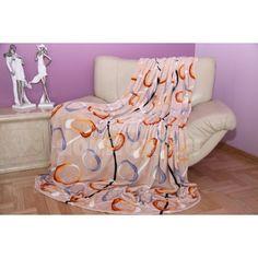 Béžová deka s motívom kruhov - domtextilu. Blanket, Tv, Home, Television Set, Ad Home, Blankets, Homes, Cover, Comforters