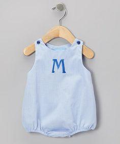 Light Blue Initial Bubble Bodysuit - Infant by Monday's Child #zulily #zulilyfinds