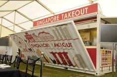 Singapore Takeout, singapore, shipping container, pop up restaurant, container restaurant, singapore cuisine