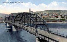 Oil City Oil City, Rural Area, Old Postcards, Historical Photos, Athens, Pennsylvania, Travel, Bridge, Country