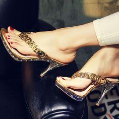 Slipper Womens High Heel Stiletto Slingback Sandal Loafer Flip Flops Thongs Shoe