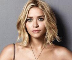 Ashley Olsen layered, wavy bob