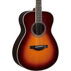 Yamaha LS Transacoustic Jumbo Concert Acoustic-Electric Guitar Brown S