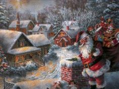 Santa Claus Wallpaper - Santa Claus Belletrist And Added Christmas Traditions Writing Santa Claus belletrist is conceivably one of the oldes. Christmas Wallpaper Free, Christmas Artwork, Santa Pictures, Christmas Pictures, Holiday Postcards, Vintage Postcards, Santa Claus Wallpaper, Karel Gott, Picture Postcards