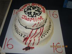 Sweet 16 Black Veil Brides Birthday cake