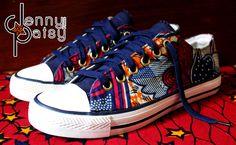 Baskets+basse/low-top+sneakers+WAX+T40++US+9+UK6,5+de+Jenny+Patsy+sur+DaWanda.com