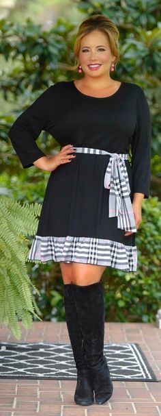 41489e6137725 Bastille Crossing Dress - Black - Perfectly Priscilla Boutique Large Size  Clothing