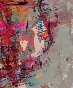 "Saatchi Online Artist: Hossam Hassan; Paint, 2012, Mixed Media ""Her Emotions"""