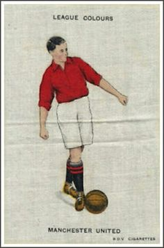 Man Utd colours cigarette card from the 1920s.