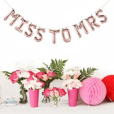 Miss to Mrs Banner. Bachelorette party ideas. Bachelorette party favors and gifts.