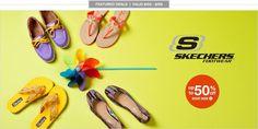 No dejes de aprovechar las ofertas, todos los zapatos skechers con el 50%.  www.6pm.com  ¡Compra en internet, nosotros te lo traemos!