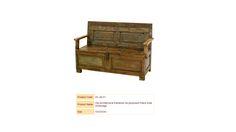 Old Architectural Elements Re-purposed Pitara Sofa W/Storage