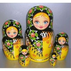 "Russian Nesting Dolls!Autumn 5 pcs,6"" Everything Else"