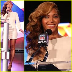 Beyonce silences the H8Rs by singing the National Anthem Live at Super Bowl Press Conference.