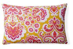 Anna's Fabulous Things Regal 12x18 Cotton Lumbar, Pink on OneKingsLane.com