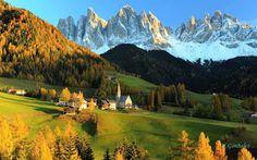 Tiro Italiano: Paisajes de montaña caracterizan también la vertiente occidental, dominada por los Alpes Venostos con sus altas cumbres de Cevedale y Ortles. Aquí se extiende el Parque Natural del Stelvio que se suma a los 7 parques naturales de Alto Adigio a través de una sucesión de bosques de coníferas, praderas, lagos, magníficos valles y una ruta hasta el paso del mismo nombre, uno de los más altos de Europa.