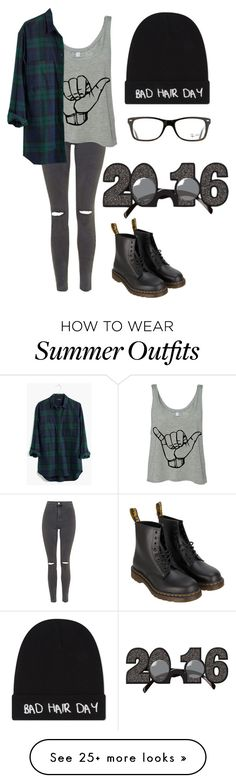 """New Year's Eve"" by haleyh2448 on Polyvore featuring Topshop, Madewell, Dr. Martens, Ray-Ban and Local Heroes"