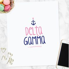 A personal favorite from my Etsy shop https://www.etsy.com/listing/473792533/delta-gamma-printable-wall-art-sorority