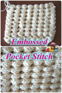 Share this: Crochet tutorial that teaches you how to crochet the Embossed Pocket Stitch. Find more crochet stitches here on the category Crochet Stitches. Crochet Embossed Pocket Stitch – Free Crochet Pattern This page […] Love Crochet, Diy Crochet, Crochet Crafts, Crochet Motif, Crochet Projects, Crochet Tutorials, Crochet Stitches Patterns, Knitting Stitches, Crochet Designs