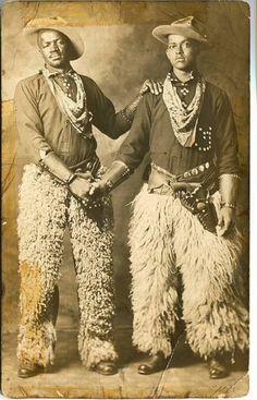 Two black cowboys, 1913.