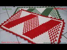 Tapete Ana / Fio Conduzido / Diy - YouTube Crochet Mat, Crochet Dollies, Tapestry Crochet, Farm Crafts, Diy And Crafts, Crochet Lampshade, Led Diy, Crochet Patterns For Beginners, Crochet Videos