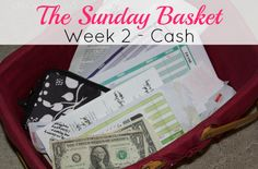 The Sunday Basket: Week 2 - CASH | The Sunday Basket has increased my productivity, reduced our late fees and generally created sanity in our home. You too can follow this simple weekly paper organization system.
