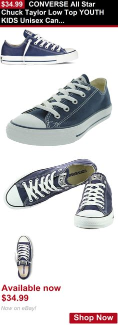 Children boys clothing shoes and accessories: Converse All Star Chuck Taylor Low Top Youth Kids Unisex Canvas Sneakers Navy BUY IT NOW ONLY: $34.99