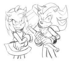 Sonic The Hedgehog, Shadow The Hedgehog, Shadow And Amy, Sonic Fan Art, Amy Rose, Sonic Boom, Coraline, Neko, The Darkest