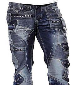 JAPRAG*Dark Blue Stonewashed Casual Denim Slim Fit Jeans