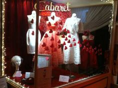 Cabaret Valentine window display = Love  Queen Street Toronto.
