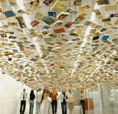 "Suspended ""Bookshelf"" Installation"