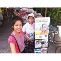 Public witnessing in Thailand. Photo shared by @jw_chonlada070