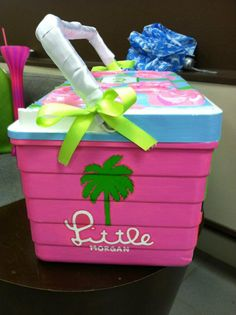 Lilly painted cooler, want one of these!