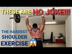 """THE """"HARDEST"""" SHOULDER EXERCISE - AT HOME GARAGE WORKOUT - YouTube Garage House, Shoulder Workout, At Home Workouts, Strength, Exercise, Youtube, Instagram, Ejercicio, Shoulder Exercises"""