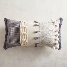 Chunky and funky! Add our pillow to any room for a bit of cool boho style.