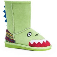 MUK Luks Kid's Rex Dinosaur Boots, Size: 9, Green