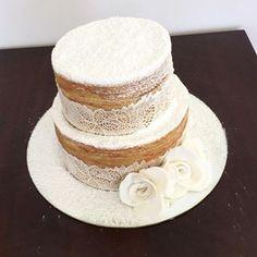 bolo naked cake para batizado - Pesquisa Google