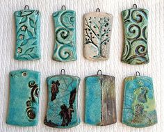 Raku Fired Ceramic by Lisa Peters Pendants Ceramic Jewelry, Ceramic Beads, Clay Beads, Polymer Clay Jewelry, Porcelain Clay, Ceramic Clay, Diy Jewelry Gifts, Homemade Clay, Essential Oil Jewelry