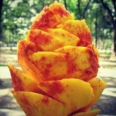 mango with chili powder!