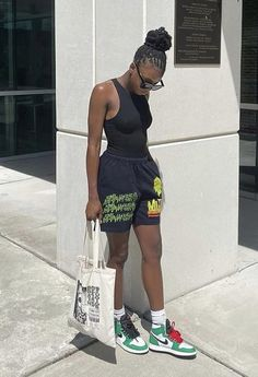 Baddie Outfits Casual, Cute Swag Outfits, Stylish Outfits, New Outfits, Summer Outfits, Girl Outfits, Fashion Outfits, Tomboy Fashion, Black Women Fashion