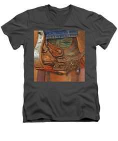 ART: And Still Working Hard - By Will Barger ~~ Adult/Unisex V-NeckT-Shirt - 4 Available Colors in Sizes S-2XL - 100% pre-shrunk, deluxe-combed cotton - Machine washable.  ~~ SHOWN HERE (rough mockup) on CHARCOAL, with artwork zoomed in to fill maximum print width. You can resize/reposition to suit your tastes before ordering. Made to your order and shipped worldwide by our production partner, Fine Art America with a 30-day, money-back, no-questions-asked guarantee.